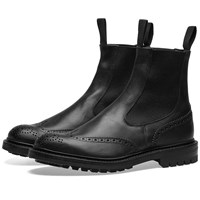 Tricker's Henry Brogue Chelsea Boot Black