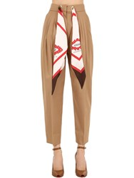 Burberry Cotton And Silk Pants Wood