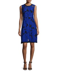 Elie Tahari Ophelia Floral Fil Coupe Dress Radiance Black