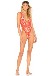 Luli Fama La Cabana Cutout One Piece Red