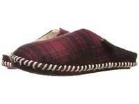 Woolrich Classic Felt Mill Scuff Red Hunting Plaid Men's Slippers