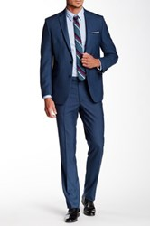 Kenneth Cole Reaction Two Button Notch Lapel Suit Blue