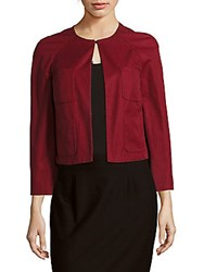 Valentino Solid Long Sleeve Jacket Red