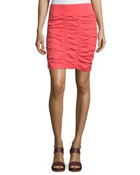Xcvi Heliconia Ruched Pencil Skirt Daiquiri