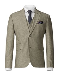 Gibson Men's Green Linen Blend Jacket Blue