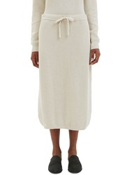Kowtow Freeway Mid Length Knit Skirt Beige