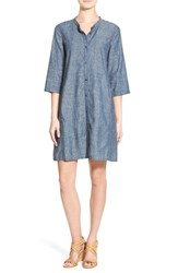 Women's Eileen Fisher Hemp And Organic Cotton A Line Dress
