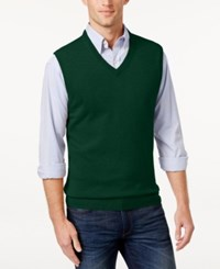 Club Room Men's Big And Tall Cashmere Solid Sweater Vest Dark Forest