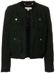 Michael Michael Kors Classic Tweed Jacket Acrylic Nylon Polyester Wool Black