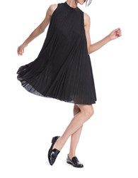 Tracy Reese Mockneck Plisse Dress Black