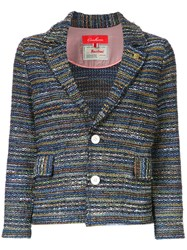 Coohem Lightweight Tweed Jacket Blue