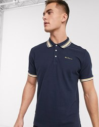 Ben Sherman Fancy Tipped Polo Shirt Navy