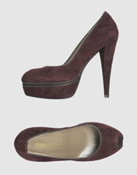 Enrico Lugani Pumps With Open Toe Maroon