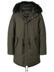 Mackage Padded Parka Feather Down Acrylic Nylon Feather Green