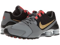 Nike Shox Avenue Cool Grey Max Orange Black Metallic Gold Men's Shoes Gray