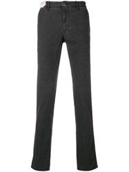Incotex Check Straight Fit Jeans Grey