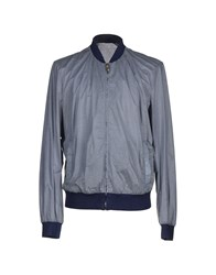 Frankie Morello Coats And Jackets Jackets Men Slate Blue