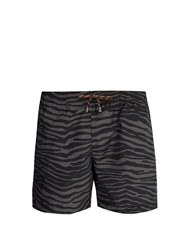Stella Mccartney Zebra Print Swim Shorts Black Multi