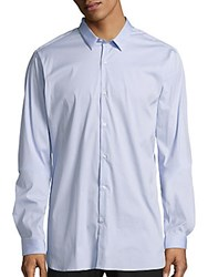 The Kooples Fitted Cotton Sportshirt Light Blue