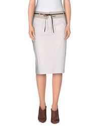 Piazza Sempione Skirts Knee Length Skirts Women Beige