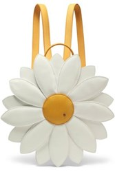 Charlotte Olympia Embellished Leather Backpack Yellow