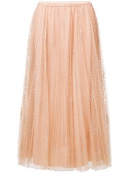 Red Valentino Pleated Tulle Skirt Pink