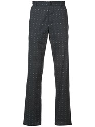 Ann Demeulemeester Printed Trousers Men Cotton M Grey