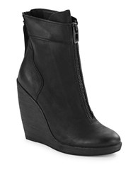 Dolce Vita Caden Leather Ankle Boot Wedges Black