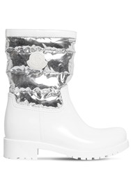 Moncler 40Mm Rubber And Nylon Boots White