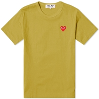Comme Des Garcons Play Colour Series Logo Tee Olive