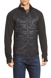 Men's Smartwool 'Corbet 120' Water Resistant Mixed Media Jacket Black
