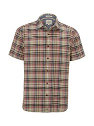 White Stuff Men's Souvenir Check Short Sleeve Shirt Multi Coloured Multi Coloured