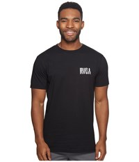 Rvca Disrupt Tee Black Men's T Shirt