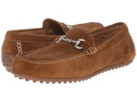 Trask Dane Whiskey Water Resistant Suede Men's Slip On Shoes Brown