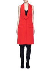 Givenchy Wool Grain De Poudre Vest Red Orange
