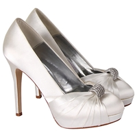 Rainbow Club Alessia Satin Court Shoes Ivory