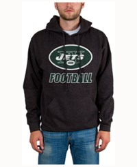 Junk Food Men's New York Jets Wing T Formation Hoodie Heather Charcoal