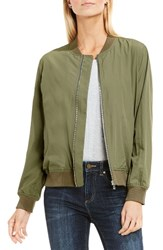 Vince Camuto Women's Two By Washed Bomber Jacket Tuscan Olive