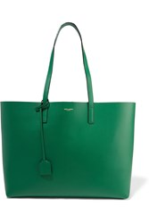Saint Laurent Shopping Large Leather Tote Forest Green
