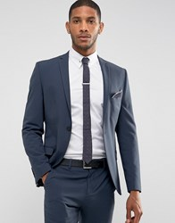 Selected Homme Super Skinny Suit Jacket In Stretch In Navy Navy Blazer