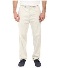 Nautica Classic Flat Front Pants Stone Men's Casual Pants White