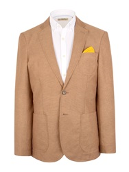 Gibson N Atextured Button Blazer Tan