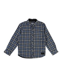 Little Marc Jacobs Long Sleeve Flannel Shirt Size 4 5 Blue
