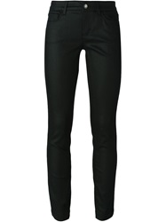 Dolce And Gabbana Coated Skinny Jeans Black