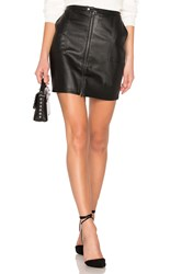 David Lerner Zip Front Cargo Skirt Black