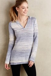 Anthropologie Stratus V Neck Hoodie Blue