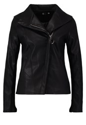 Missguided Faux Leather Jacket Black