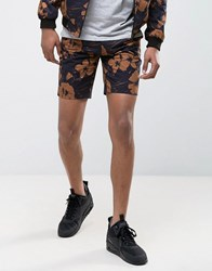 New Look Shorts With Floral Print In Black Black Pattern