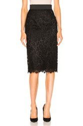 Dolce And Gabbana Lace Midi Skirt In Black