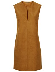 Blk Dnm Tobacco Suede Sleeveless Mini Dress Brown